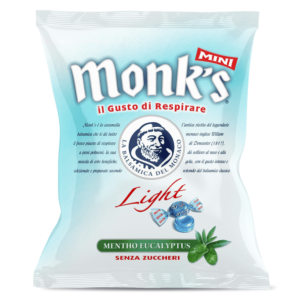 <p>Busta da 70 g Monk's balsamica mini light sugarfree</p>