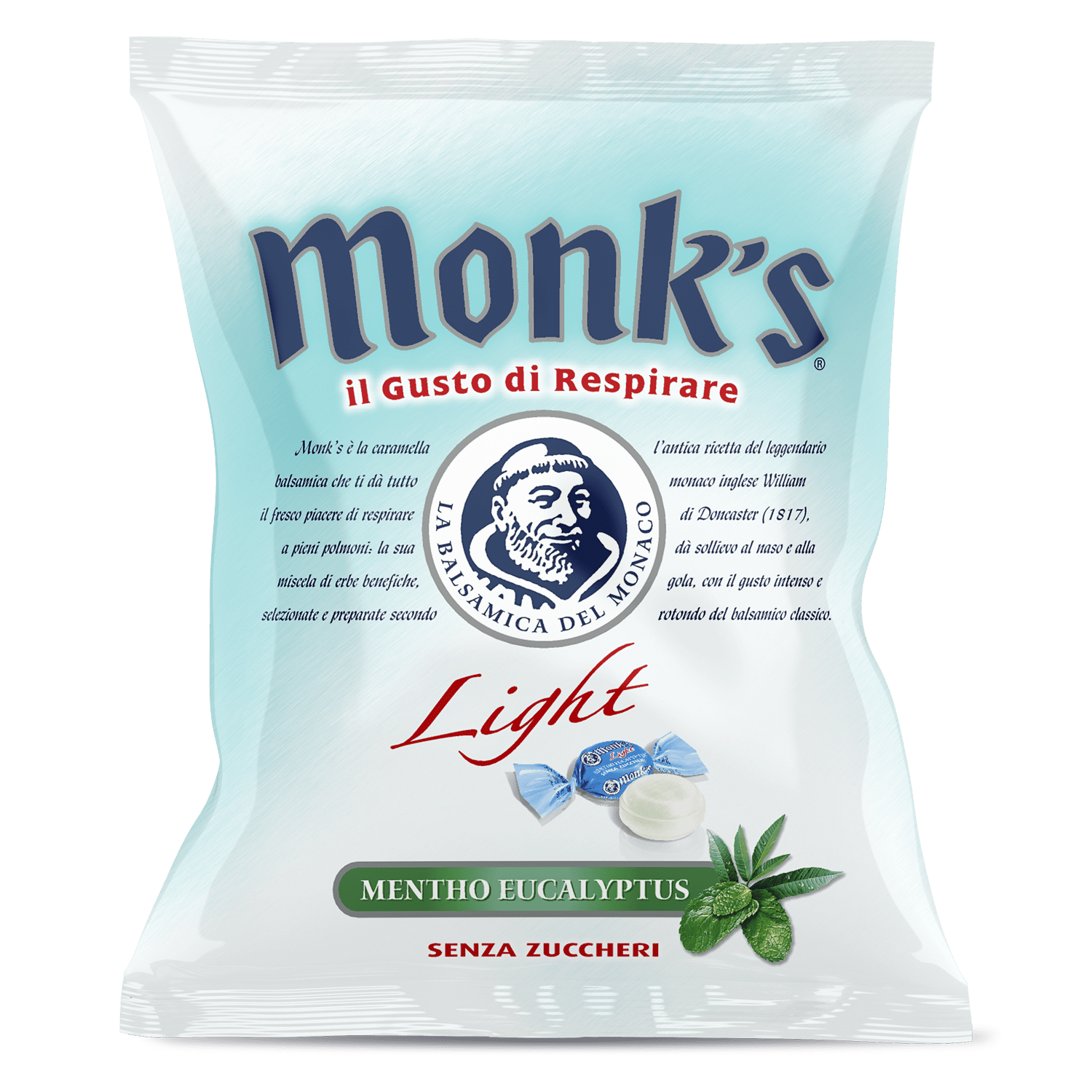 Busta da 80 g Monk's balsamica light sugarfree