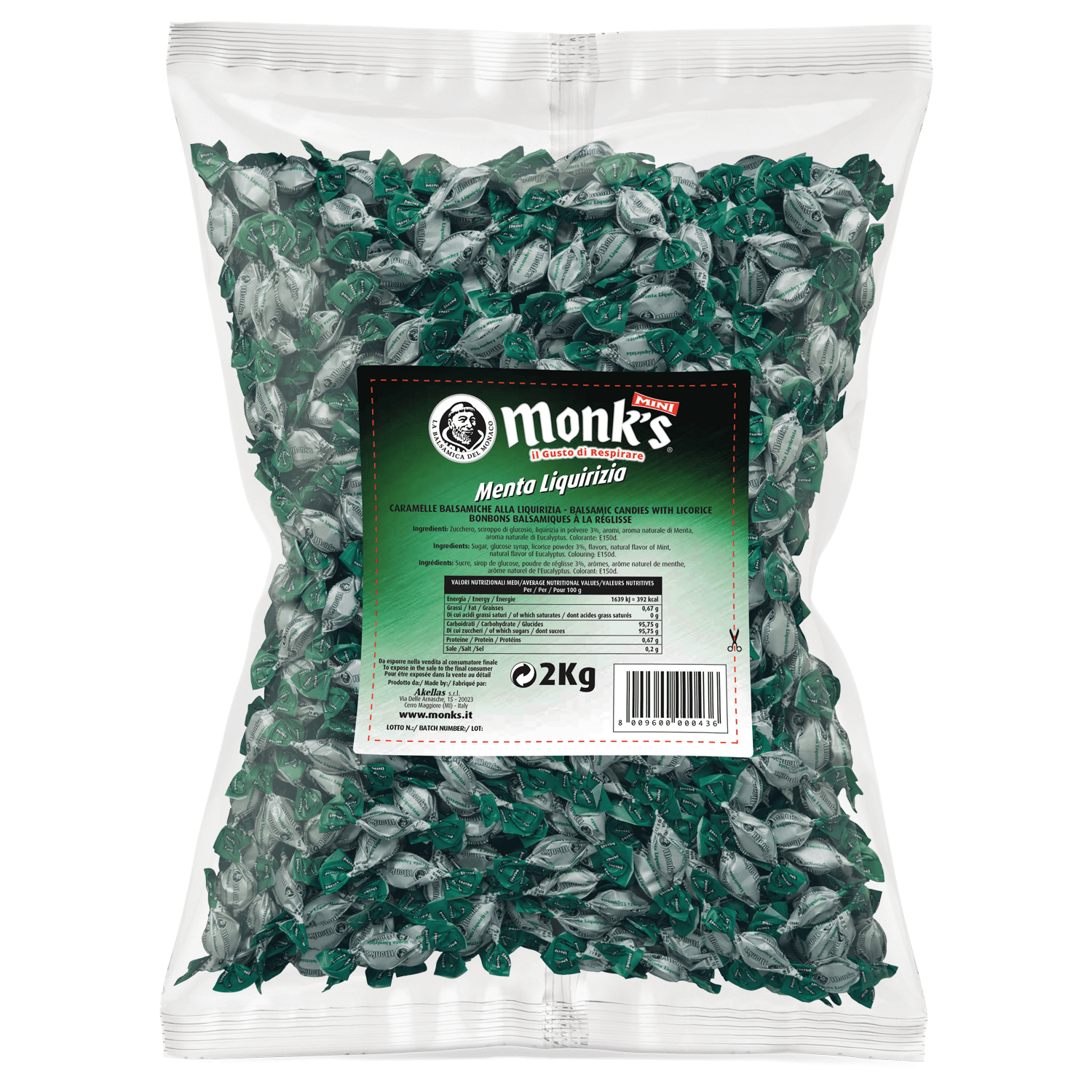 Monk's Mini Menta e Liquirizia